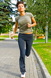 Running in the park royalty free stock photography