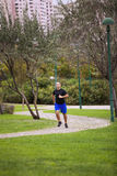 Running at the park Royalty Free Stock Photo