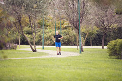 Running at the park Stock Image
