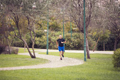 Running at the park Stock Photography