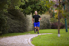 Running at the park Stock Photo