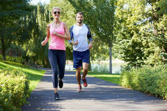 Running is part of their daily routine Stock Images