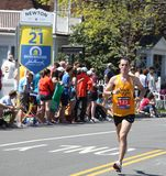 Running Past Mile 21 Royalty Free Stock Photo