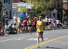 Running Past Mile 21 Stock Photography