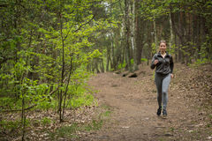 Running on path Stock Photography