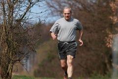 running pensionär Royaltyfria Bilder