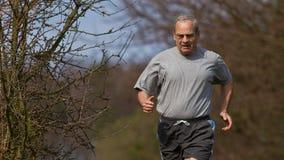 running pensionär Arkivbilder