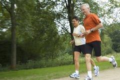 running pensionärer Royaltyfria Foton