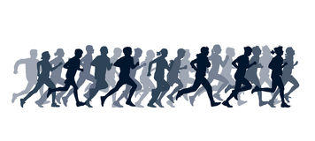 Running people Stock Photo