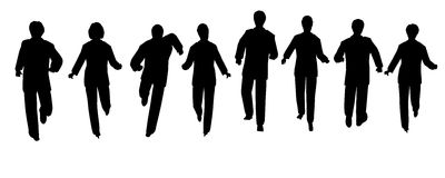 Running people Royalty Free Stock Images