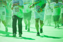 Running people at a color run in Cologne Royalty Free Stock Photography