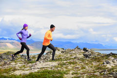 Running people cross country trail runners Royalty Free Stock Photo
