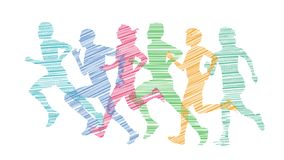 Running people doing sports,  Activity, Jogging, royalty free stock images