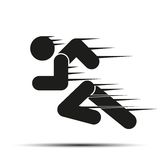 Running people in motion. Simple symbol of run Royalty Free Stock Images