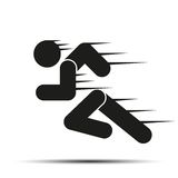 Running people in motion. Simple symbol of run Royalty Free Stock Photography
