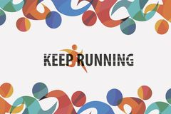 Running people set of stylized icons background Royalty Free Stock Image