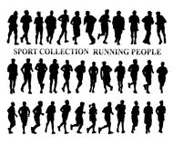 Running people silhouettes. Sport Stock Image