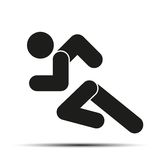 Running people simple symbol of run isolated on a Royalty Free Stock Photography