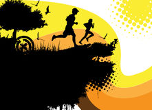 Running people vector Stock Photos