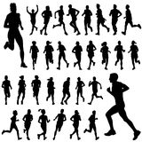 Running people vector Royalty Free Stock Image