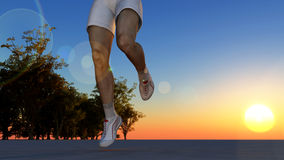 The running person Royalty Free Stock Image