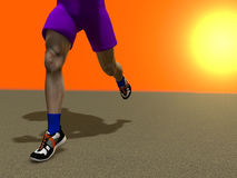 The running person Stock Photo
