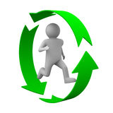 Running person on white background Royalty Free Stock Photo