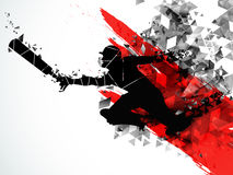Running Player for Cricket Sports concept. Silhouette of a running Player to take a run on creative abstract background for Cricket Sports concept vector illustration
