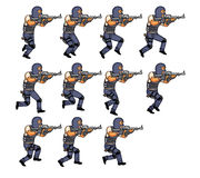 Running Police Animation Royalty Free Stock Photos