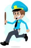 Running policeman Stock Image