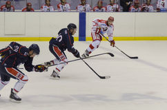 Running the puck Stock Photography