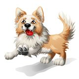 Running puppy of a dog stock illustration