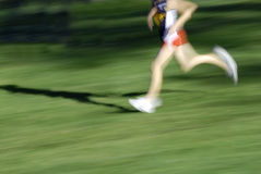 Running a Race Royalty Free Stock Photos