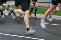 Running Race Motion Blur Stock Image