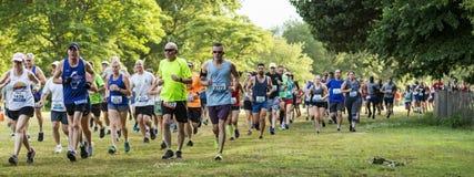Running race start on grass at Sunken Meadow State Park 10K
