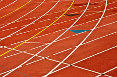 Running race track. Red clay running race track Royalty Free Stock Image