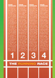 Running race track layout Royalty Free Stock Photos