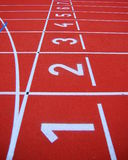 Running race track Stock Images