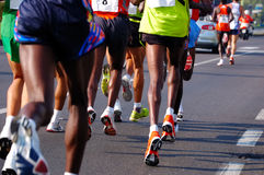 Running racers Stock Photo