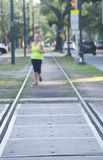 Running the rails in New Orleans - St. Charles Avenue Royalty Free Stock Photo