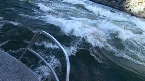Running rapids in jetboat Hells Canyon Snake River Idaho stock video