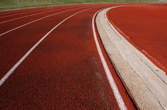 Running red track Royalty Free Stock Image