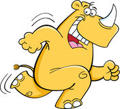 Running rhinoceros royalty free illustration