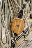 Running Rigging. Alongside The Sailing Ship Royalty Free Stock Photography