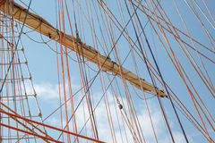 Running rigging of a sailing ship Royalty Free Stock Photography