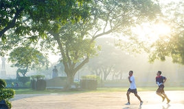 Running in Rizal Park Royalty Free Stock Images