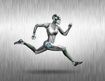 Running robot Stock Photos
