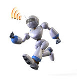 Running robot Royalty Free Stock Images