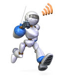 Running robot Stock Photography