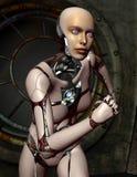 Running robots woman Stock Image